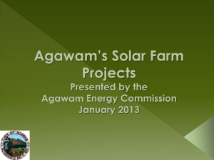 Agawam`s Solar Farms