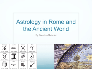 Astrology in Rome and the Ancient World