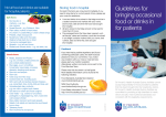 Guidelines for bringing occasional food or drinks in for patients