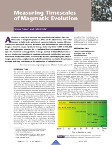Measuring Timescales of Magmatic Evolution