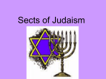 Sects of Judaism powerpoint