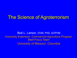 Agricultural Bioterrorism (Agroterrorism) and Biosecurity