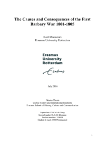 The Causes and Consequences of the First Barbary War 1801-1805