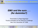 Introduction to EMU and the euro