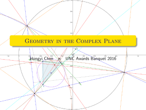 Geometry in the Complex Plane