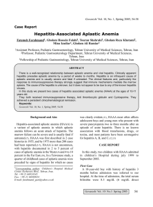 Hepatitis-Associated Aplastic Anemia