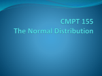 CMPT 155 The Normal Distribution