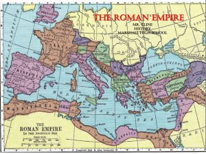 the roman empire - Marshall Community Schools
