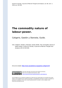 The commodity nature of labour-power
