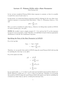 Lecture 17: Poisson GLMs with a Rate Parameter