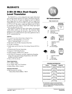 NLSX4373 - 2-Bit Dual Supply Level Translator