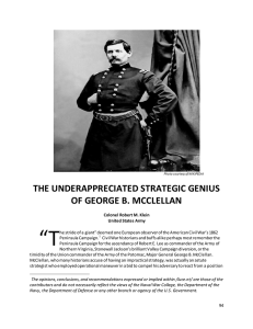 the underappreciated strategic genius of george b. mcclellan