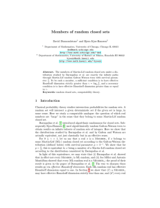 Members of random closed sets - University of Hawaii Mathematics