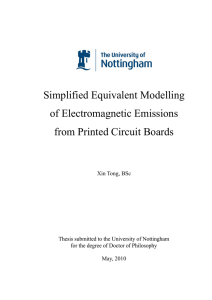 Simplified Equivalent Modelling of Electromagnetic Emissions from