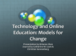 Technology and Online Education: Models for Change