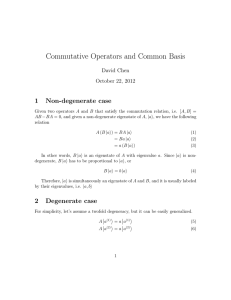 Commutative Operators and Common Basis
