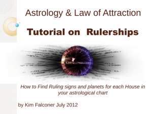 Planetary and House Rulerships