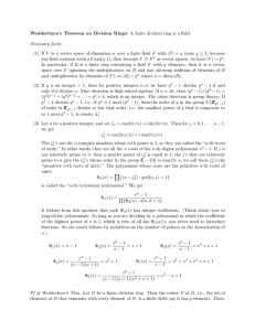 Wedderburn`s Theorem on Division Rings: A finite division ring is a