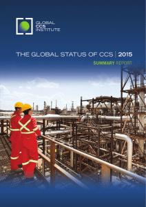The global status of CCS 2015: summary report
