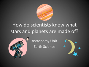 How do scientists know what stars and planets are made of?