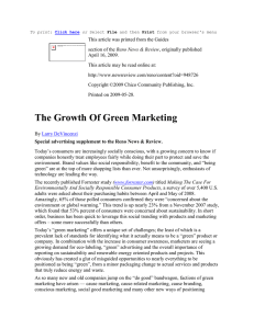 DeVincenzi_Growth of green marketing