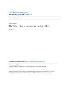 The Effect of Acetaminophen on Social Pain