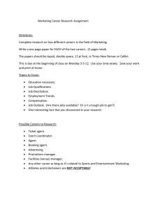 Marketing Career Research Assignment Directions: Complete