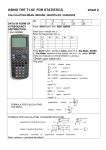 USING THE T1-82 FOR STATISTICS sheet 2
