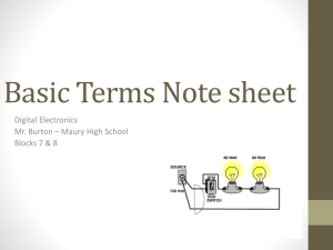 Basic Terms Note sheet