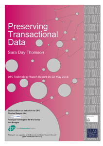 Preserving Transactional Data - Digital Preservation Coalition