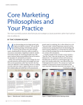 Core Marketing Philosophies and Your Practice