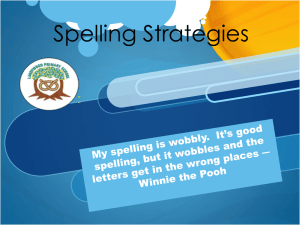 Spelling Strategies. - Landywood Primary School