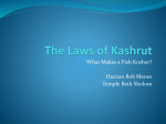 The Laws of Kashrut