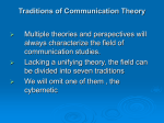 Chapter Three Traditions of Communication Theory