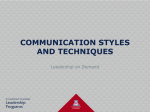 communication styles and techniques