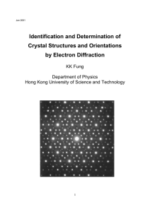 Identification and Determination of Crystal Structures and