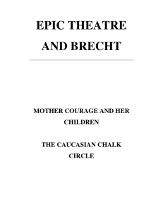 EPIC THEATRE AND BRECHT