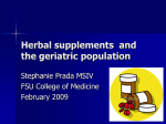 Herbal supplements and the geriatric population