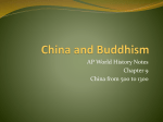 Buddhism in China - AP World History with Ms. Cona