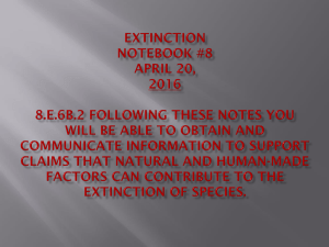 Notebook #8 Extinctions