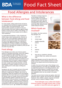 Food Allergy and Intolerance - British Dietetic Association