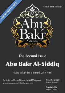 Abu Bakr Al-Siddiq - It Is Time to know Muhammad