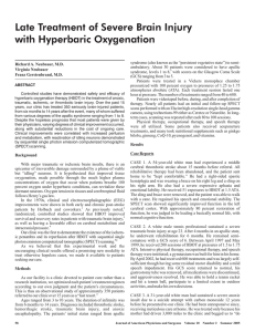 Late Treatment of Severe Brain Injury with Hyperbaric Oxygenation