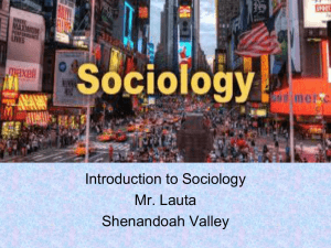 Areas of Sociology
