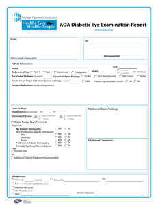 AOA Diabetic Eye Examination Report