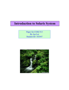 I What is Solaris