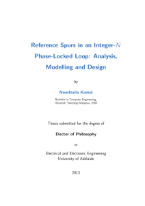 Reference spur in an Integer-N Phase-Locked Loop