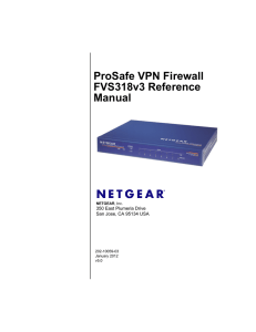 ProSafe VPN Firewall FVS318v3 Reference Manual