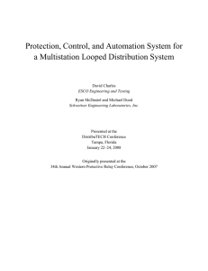 Protection, Control, and Automation System for a