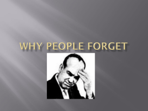 Why People Forget - avongroveappsychology